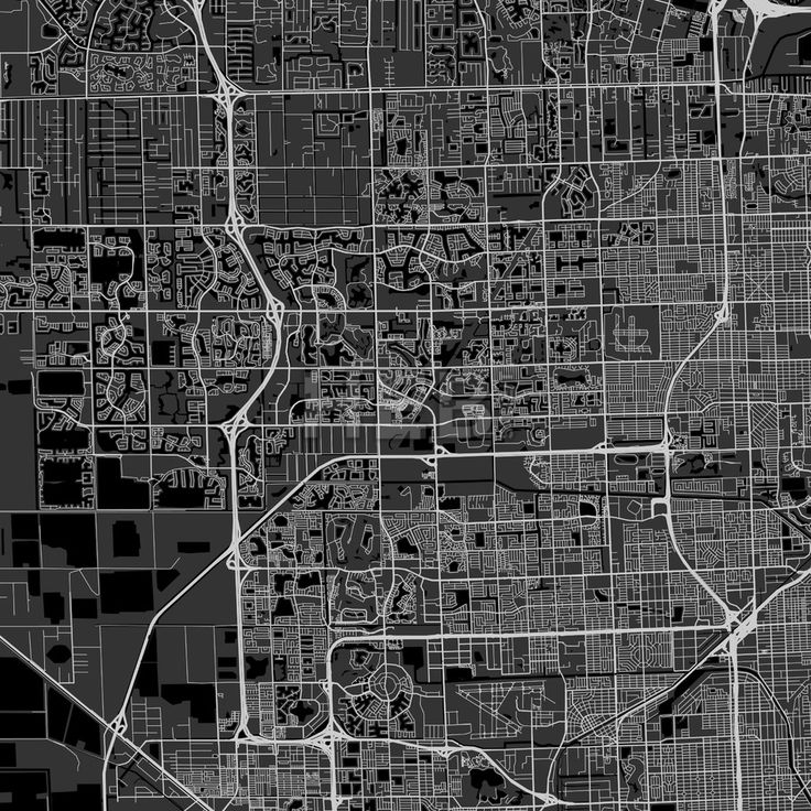 Alaska Major Cities Map%0A Miramar downtown and surroundings Map in dark version with many details for  high zoom levels