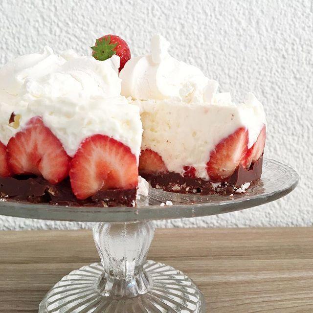 Nice S uRezept f r die Erdbeer Joghurttorte ist online kuchen cake