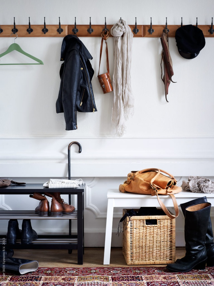 from ikea simple coat and shoe storage