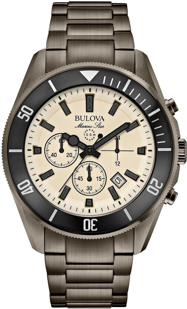 @bulova Watch Marine Star #bezel-unidirectional #bracelet-strap-steel #brand-bulova #case-material-steel #case-width-43mm #chronograph-yes #date-yes #delivery-timescale-4-7-days #dial-colour-cream #fashion #gender-mens #movement-quartz-battery #official-stockist-for-bulova-watches #packaging-bulova-watch-packaging #style-sports #subcat-marine-star #supplier-model-no-98b205 #warranty-bulova-official-3-year-guarantee #water-resistant-100m