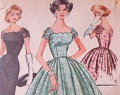 Vintage McCall's 4357 Sewing Pattern, Formal Dress Pattern, Bell Skirt, 1950s Dress Pattern, Bust 36, 1950s Prom Dress, Evening Dress