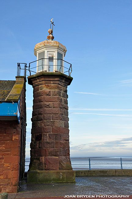 Old lighthouse, The Stone Jetty, Morecambe, Lancashire, England