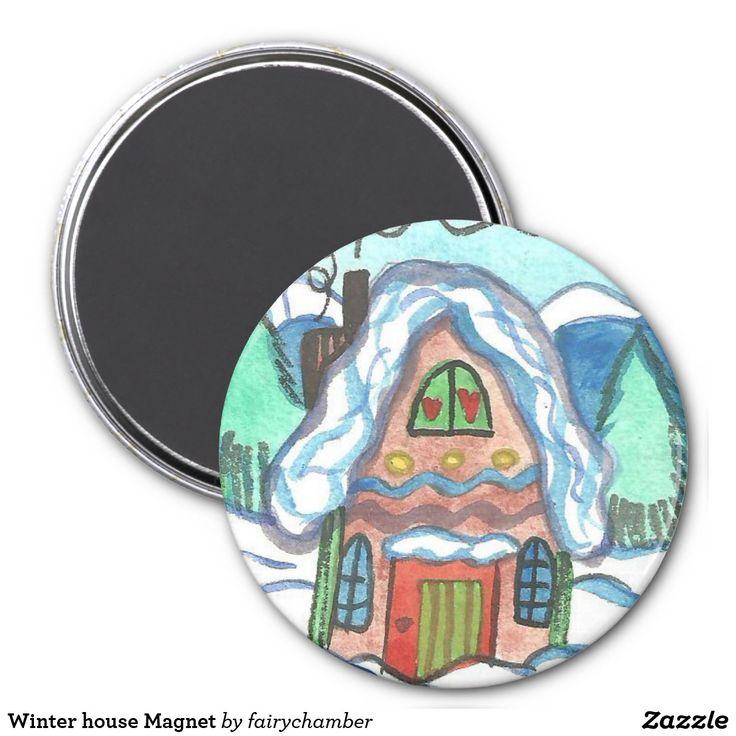 Winter house Magnet