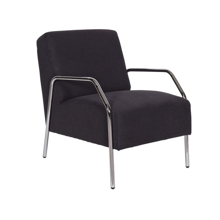 WOOOD Fauteuil - Antraciet met chroom