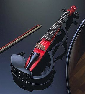 Cool electric violin; I can't wait until I'm actually good at playing so that I can give one of these a go!