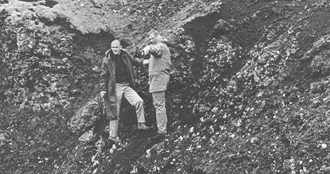 FIGURE 86.-Astronauts Ken Mattingly and Neil Armstrong. studying geology in Iceland.