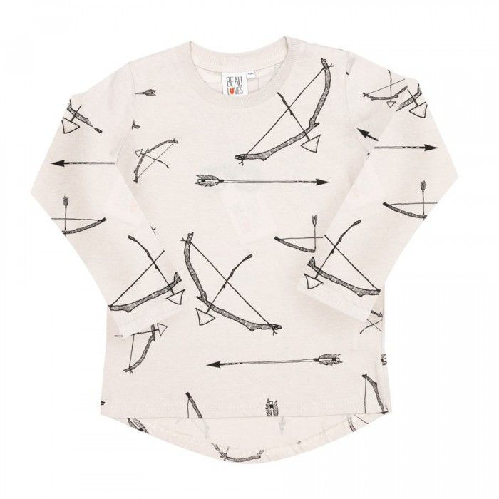 Toddler Long Sleeve T-Shirt with Bows & Arrows Print by Beau LOves #boys #tees
