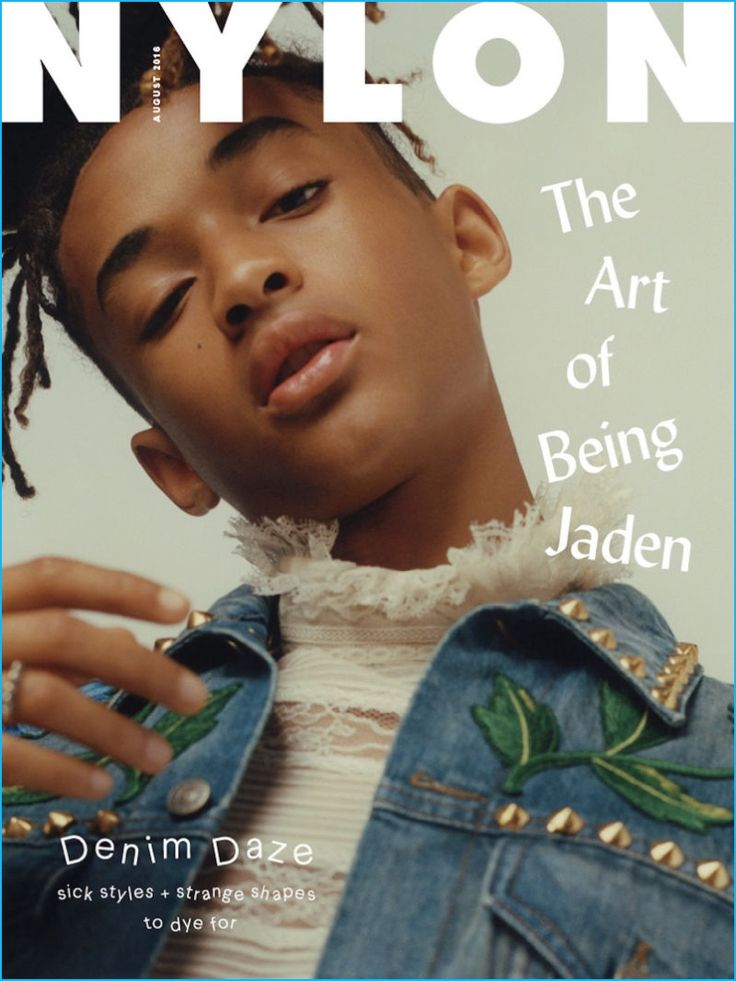 Jaden Smith covers the August 2016 issue of Nylon magazine.