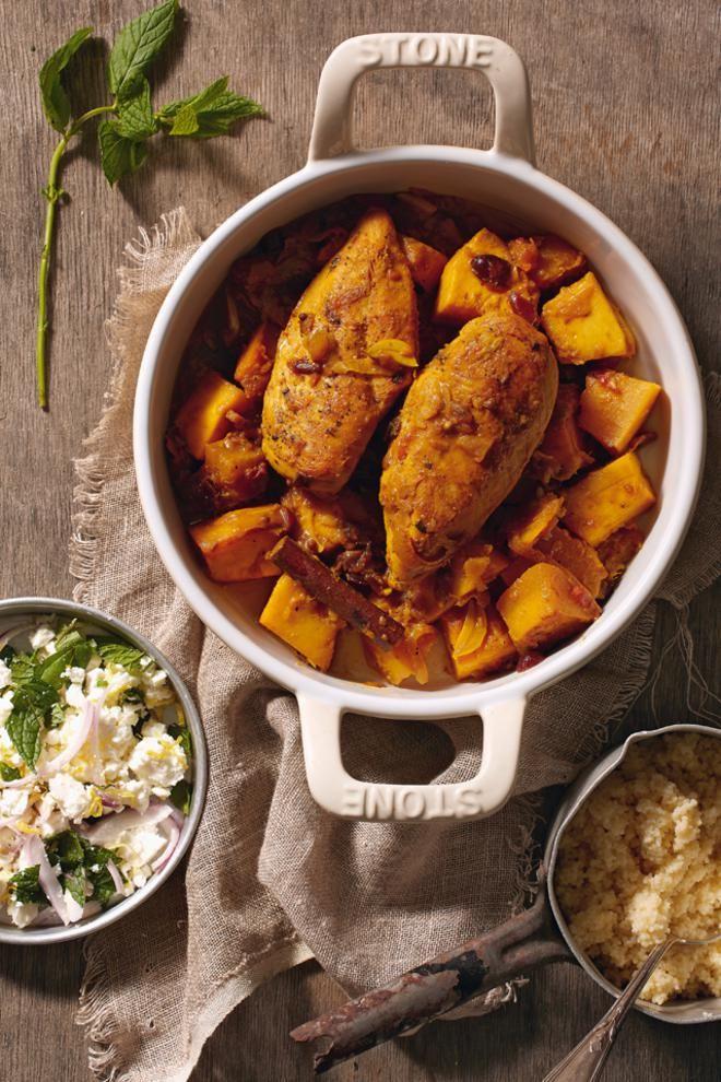 Κοτόπουλο με μπαχαρικά και κολοκύθα