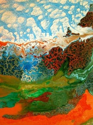 lidia shaddow © Haitian landscape. Digital print. Dimension varies.