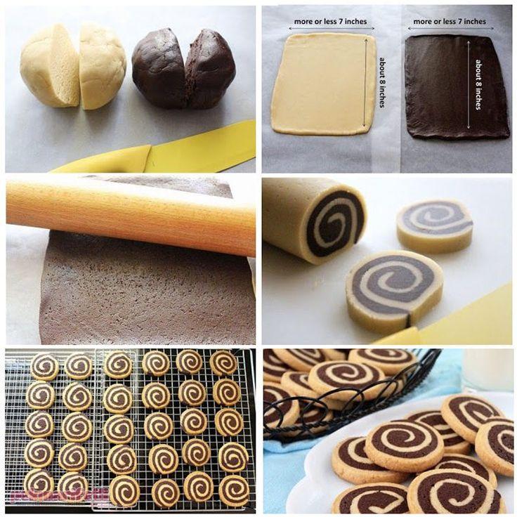 Siyah beyaz spiral kurabiye yapımı | Mutfak | Pek Marifetli!