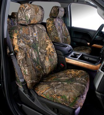 Carhartt Seat Covers In Camo RealTree Xtra Brown