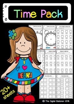 $2- Telling the Time (Analogue & Digital) - 24 printable worksheets and games. Please repin/ like and check out our store!