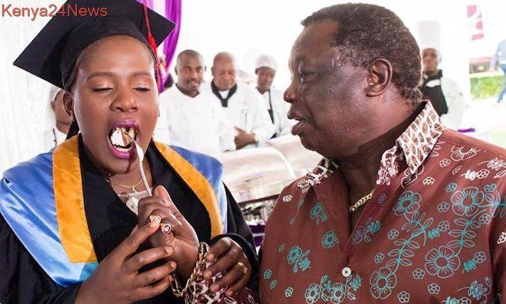 Mapenzi Yamenoga Atwoli Holds Lavish Graduation Party For Wife