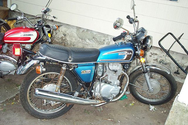 1974 Honda CB360. Nice little bike for zipping across town. I have one in pretty good shape, just needs a little motor work and good to go! Predecessor to the Honda CBR series bikes.