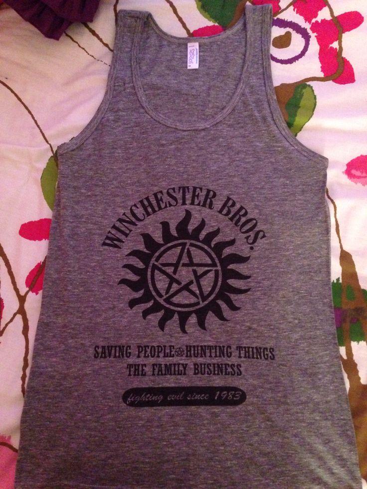 my new supernatural shirt  #inlove
