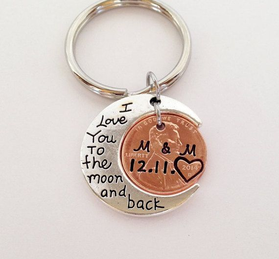 Penny Keychain Anniversary Gift for by SincereImpressions on Etsy