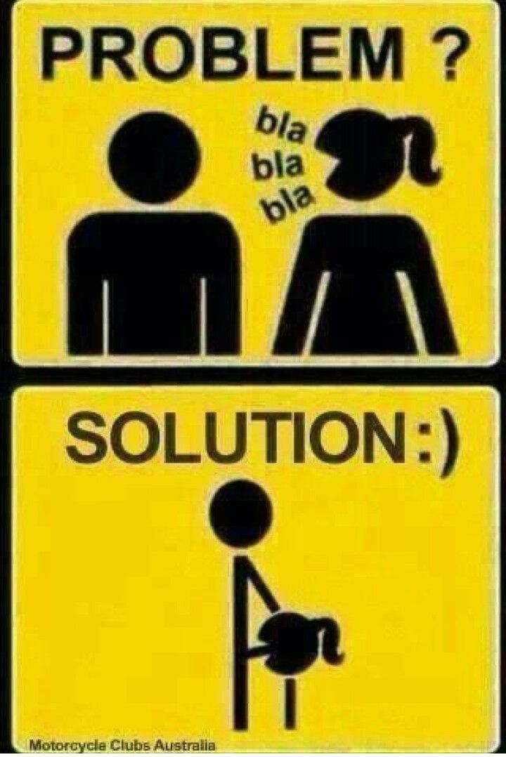"""THE SOLUTION"" should *CUM* B 4 ""THE PROBLEM"""