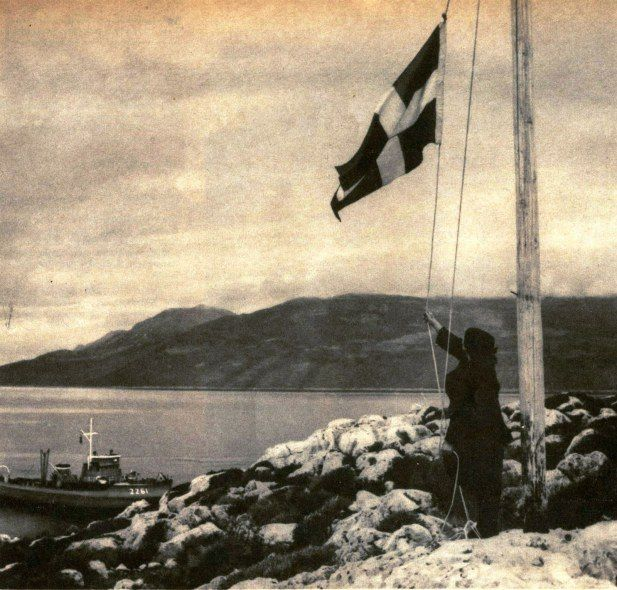 Despina Achladioti, known as the Lady of Ro was a Greek patriot born on the island of Kastellórizo in 1890. Her renowned deed is that every day she would fly a Greek flag over the island even though the island was not formally part of Greece till 1948. This made her a Greek hero, especially when Greece nearly went to war with Turkey in the 1970s
