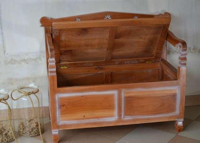 ławka drewniana Skrzynia stylowa bedz023 Będzin - image 1