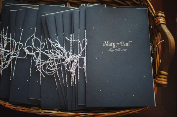 Wedding Stationery Inspiration: Constellations via Oh So Beautiful Paper: http://ohsobeautifulpaper.com/2014/02/wedding-stationery-inspiration-constellations/ | Programs: Mary Rosamond via Style Me Pretty | Photo: Paper Antler #wedding