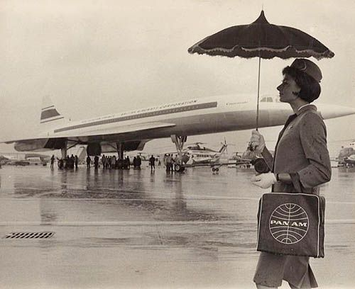 1960s Pan Am flight attendant.