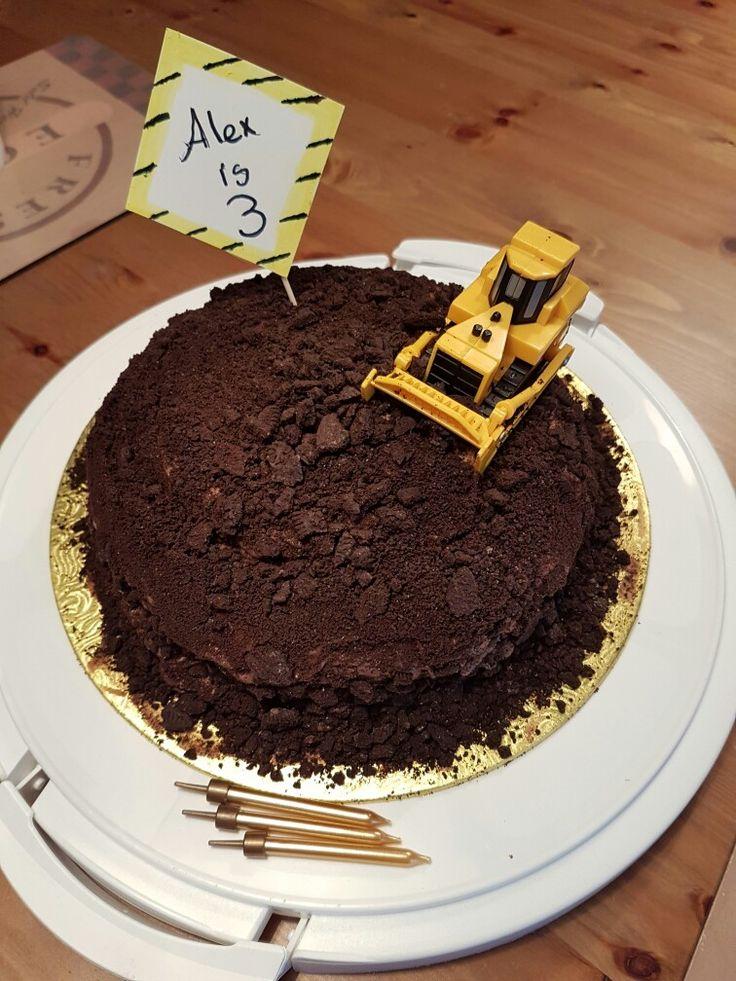 Dairy free digger cake