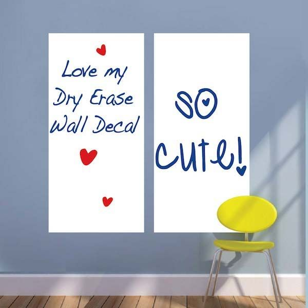 Rectangular Dry Erase Wall Decal Part 26