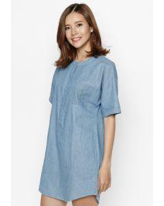 Đầm Sơ Mi Jean Mỏng Cung Cấp Bởi Tad W16D08 Jean Xanh