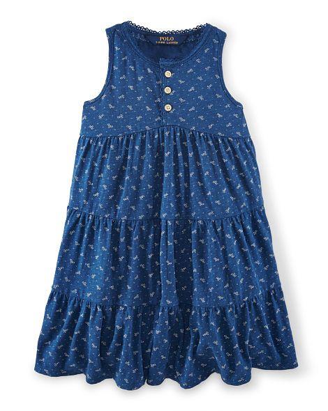 Floral Tiered Cotton Dress - Girls 2-6X Dresses & Skirts - RalphLauren.com