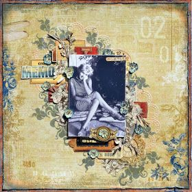 ScrapBerry's: Vintage mixed media lay-out made by Denise van Deventer with the gorgeous Words Live Forever.