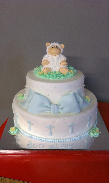 Lamb Baby Boy Baptism Cake by Little Sugar Bake Shop, via Flickr