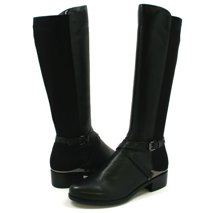 solemani s gabi 2 black leather boot slim calf