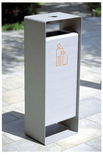 Cubo de basura público / de pie / de acero galvanizado / de acero inoxidable…