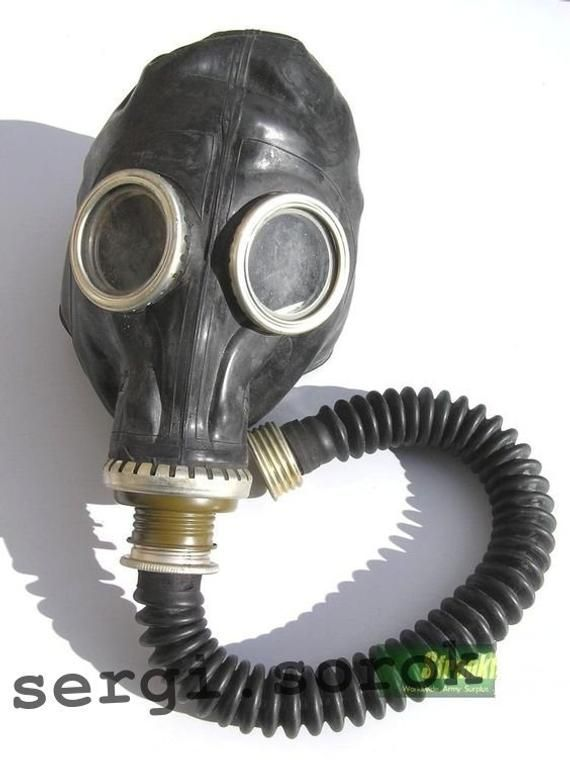 RUBBER Gas mask GP-5 russian black soviet military new size 0,1,2,3,4