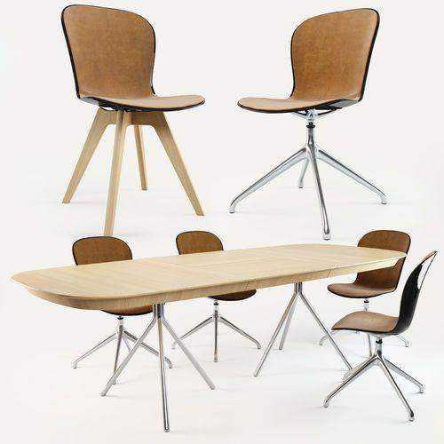BoConcept Adelaide Chair Ottawa Table | 3D Model