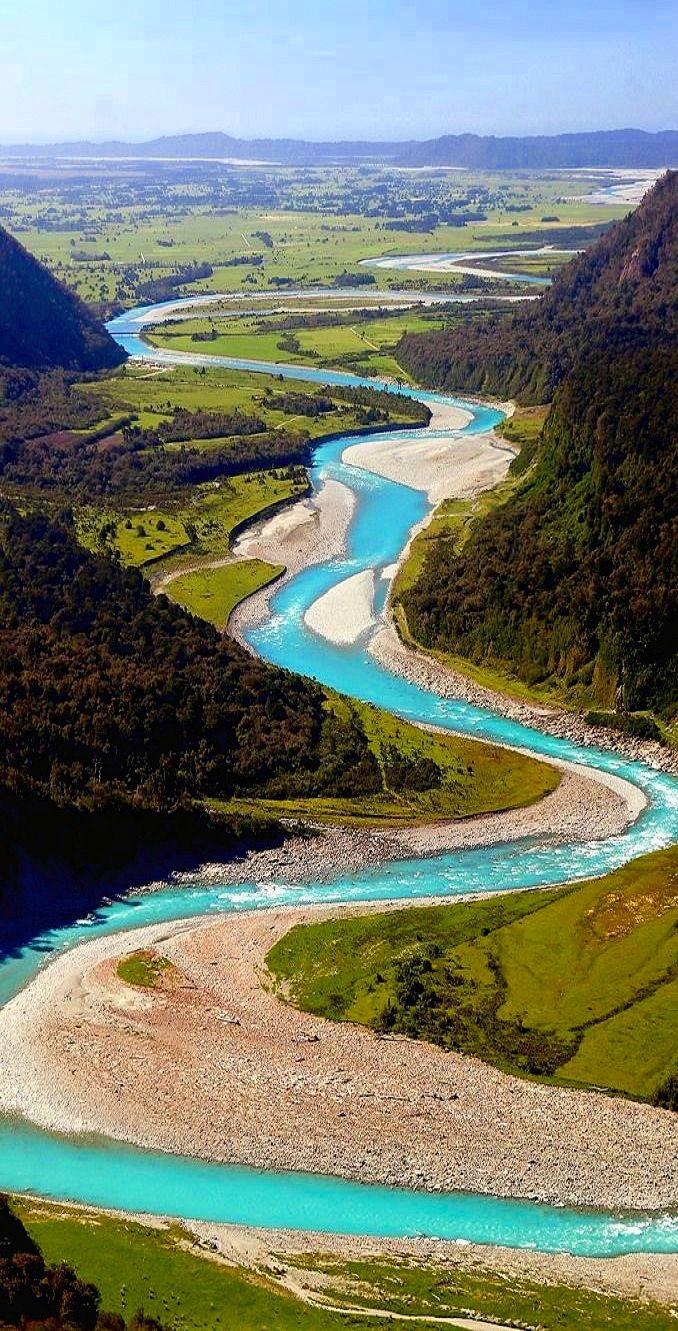 Whataroa River, Westland, South Island New Zealand.