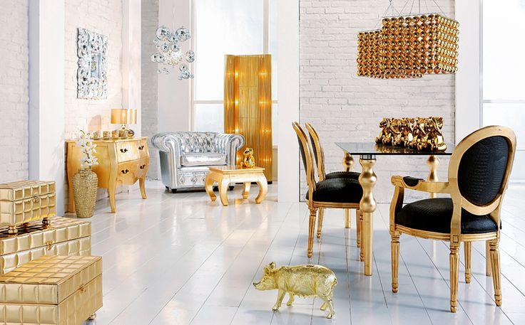 Comedor Vintage Gold - Ambientes Comedor Vintage - Muebles Vintage