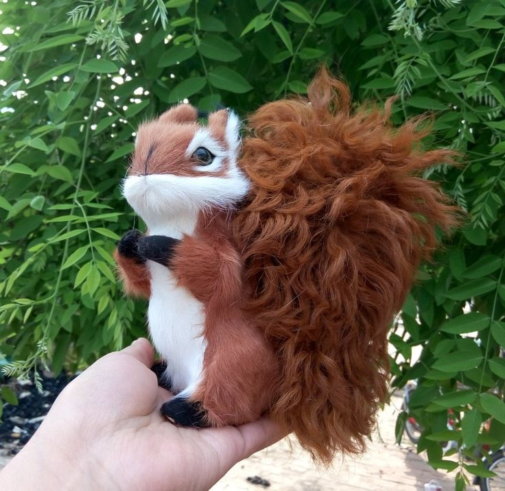 Simulation big tail squirrel polyethylene&furs squirrel model funny gift about 19*19CM //Price: $US $21.06 & FREE Shipping //     #clknetwork
