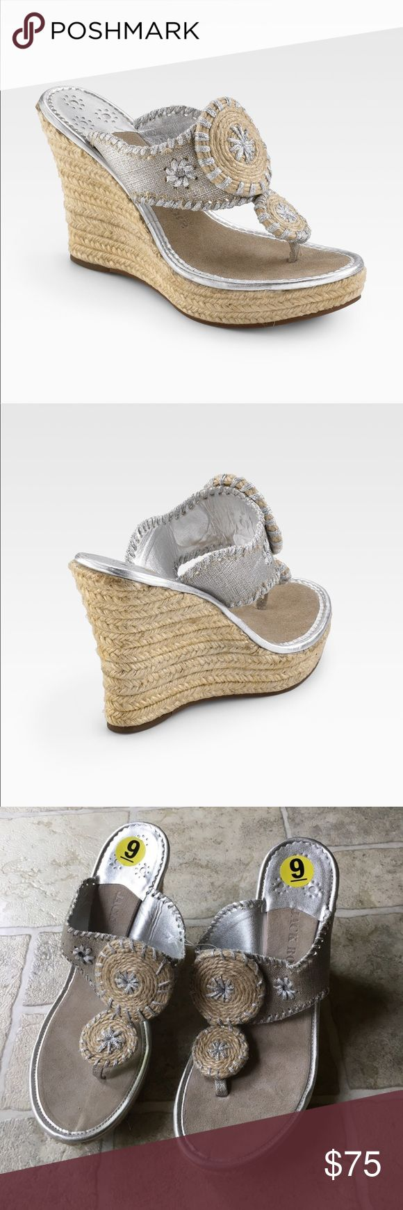 Jack Rodgers Mallorca Wedge Sandal Espadrilles These are Jack Rodgers Mallorca Wedge Sandal Espadrilles in size 9. These wedges will take you throughout the warmer months in style. Brand new. Never worn sandals. Shoes are handcrafted in the USA. Jack Rogers Shoes Espadrilles