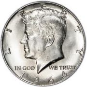 Kennedy half dollars - came out in 1964