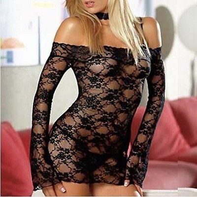 Hot Sexy Lingerie Women Black Lace Dress Underwear Nightwear G String Sleepwear - BUY NOW ONLY 6.99