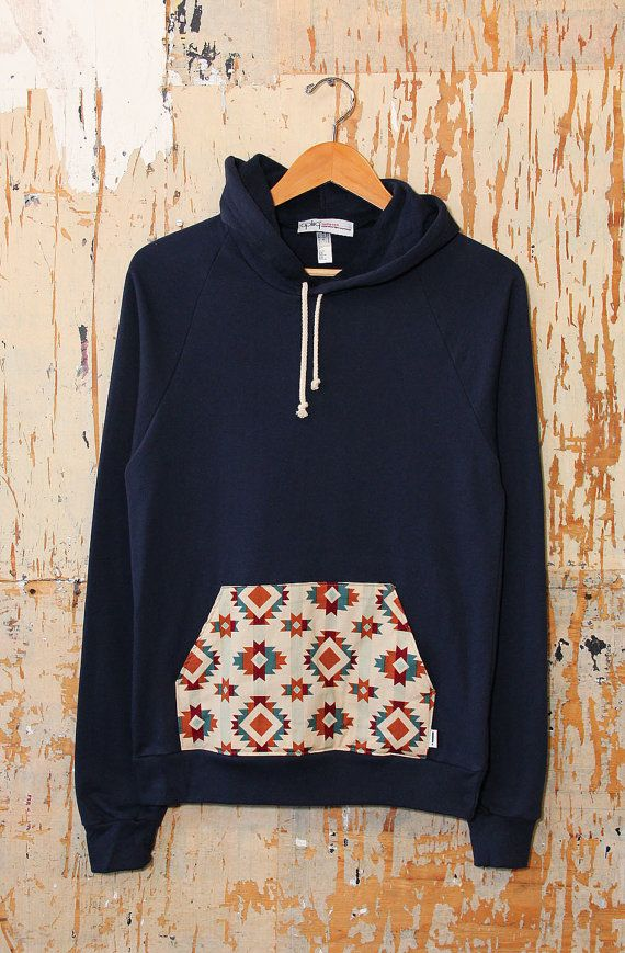 The Chopped Pull Over Hoody by apliiq on Etsy, $30.00. -A different print would be better -