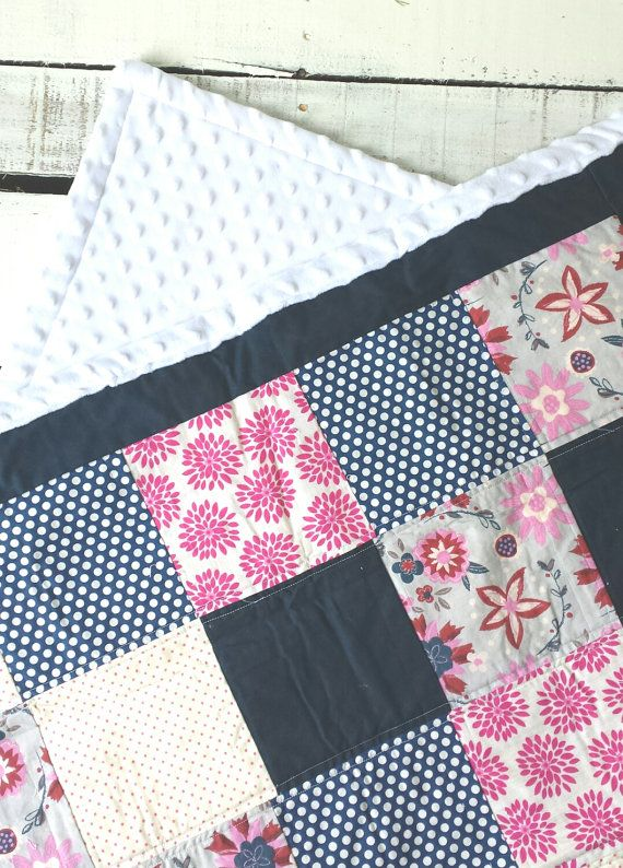 Baby Quilt Baby Girl Quilt Crib Blanket Pink And Blue