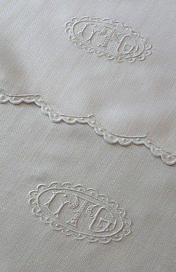 Triple Monogrammed Antique Linen Towels