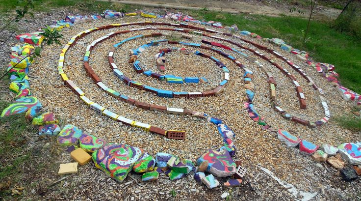 Nice labyrinth at Truly Living Well's Wheat Street Gardens urban farm in downtown ATL!