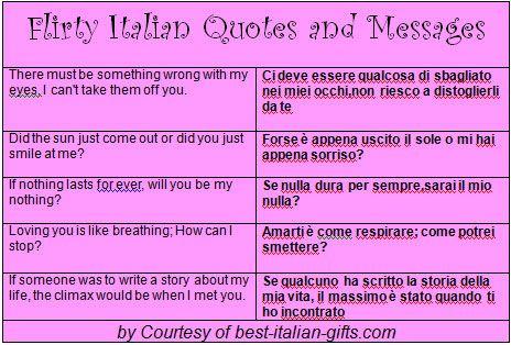 Italian romantic sayings