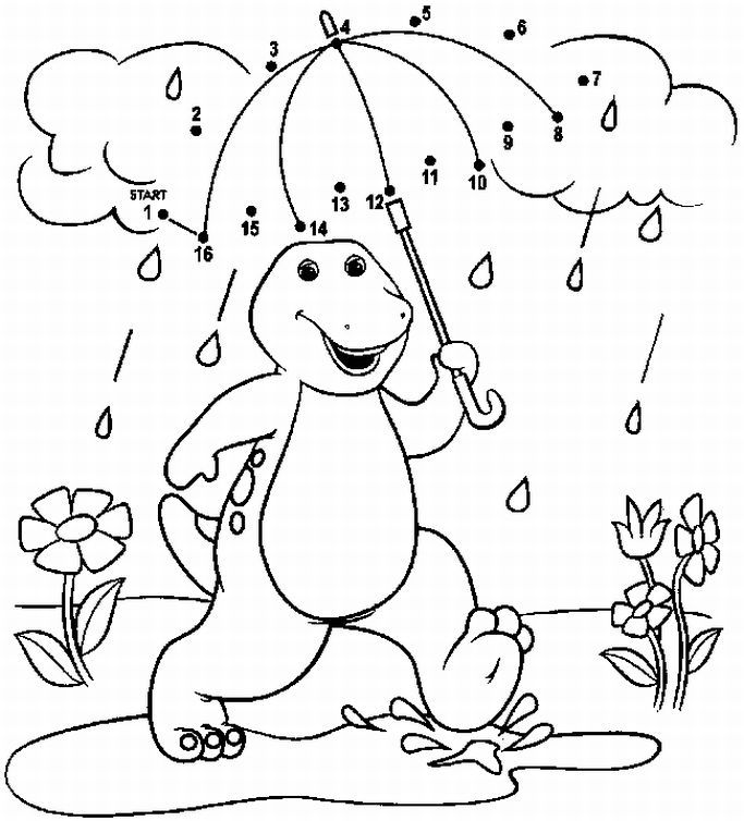 Dot To Coloring Pages Free For Kids