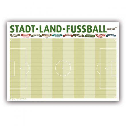 Sticky Jam Tischsets Stadt Land Fußball | design3000.de
