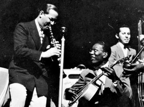 Benny Goodman and Charlie Christian jamming